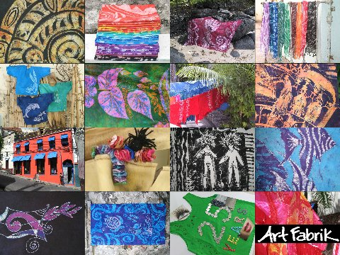 We are the one. Art Fabrik Boutique. Are we quirky? Well, maybe... We love what we make: hand-painted batik, art, fashion and gifts. A great place for shopping in Grenada, Isle Of Spice.
